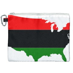 Pan African Flag Map Of United States Canvas Cosmetic Bag (xxl) by abbeyz71