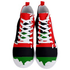 Pan African Flag Map Of United States Men s Lightweight High Top Sneakers
