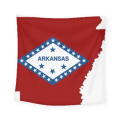 Flag Map Of Arkansas Square Tapestry (small) by abbeyz71