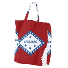 Flag Map Of Arkansas Giant Grocery Tote by abbeyz71