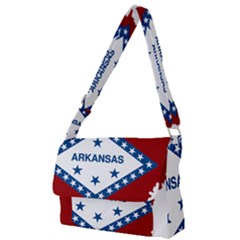 Flag Map Of Arkansas Full Print Messenger Bag by abbeyz71