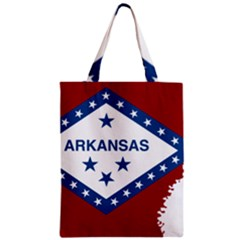 Flag Map Of Arkansas Zipper Classic Tote Bag by abbeyz71