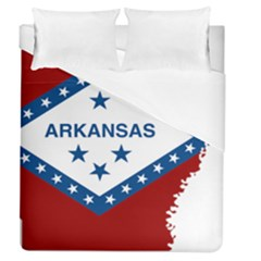 Flag Map Of Arkansas Duvet Cover (queen Size) by abbeyz71