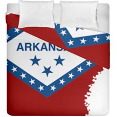 Flag Map Of Arkansas Duvet Cover Double Side (king Size) by abbeyz71