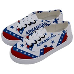 Flag Map Of Arkansas Kids  Classic Low Top Sneakers by abbeyz71