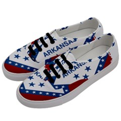 Flag Map Of Arkansas Men s Classic Low Top Sneakers by abbeyz71