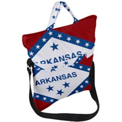 Flag Map Of Arkansas Fold Over Handle Tote Bag by abbeyz71