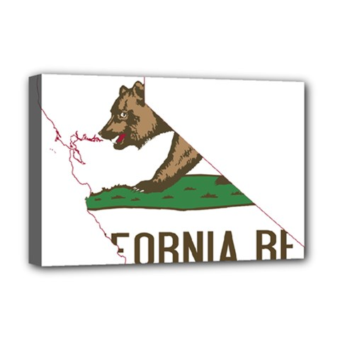 California Flag Map Deluxe Canvas 18  X 12  (stretched) by abbeyz71