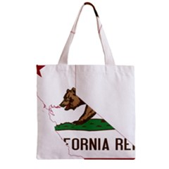 California Flag Map Zipper Grocery Tote Bag by abbeyz71
