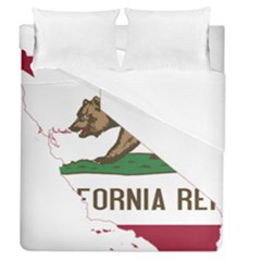 California Flag Map Duvet Cover (queen Size) by abbeyz71