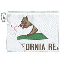 California Flag Map Canvas Cosmetic Bag (xxl) by abbeyz71