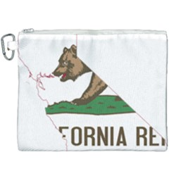 California Flag Map Canvas Cosmetic Bag (xxxl) by abbeyz71