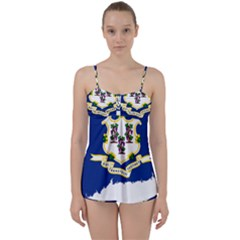 Flag Map Of Connecticut Babydoll Tankini Set