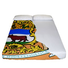 Flag Map Of Delaware Fitted Sheet (california King Size) by abbeyz71