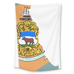 Flag Map Of Delaware Large Tapestry by abbeyz71
