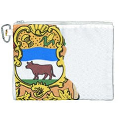 Flag Map Of Delaware Canvas Cosmetic Bag (xxl) by abbeyz71