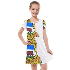 Flag Map Of Delaware Kids  Cross Web Dress by abbeyz71