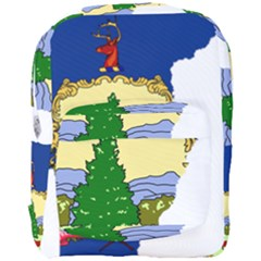 Flag Map Of Vermont Full Print Backpack by abbeyz71