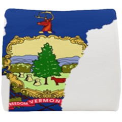 Flag Map Of Vermont Seat Cushion by abbeyz71