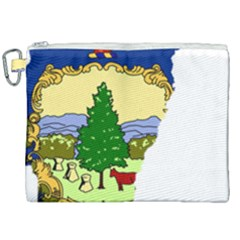Flag Map Of Vermont Canvas Cosmetic Bag (xxl) by abbeyz71
