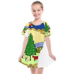 Flag Map Of Vermont Kids  Smock Dress by abbeyz71