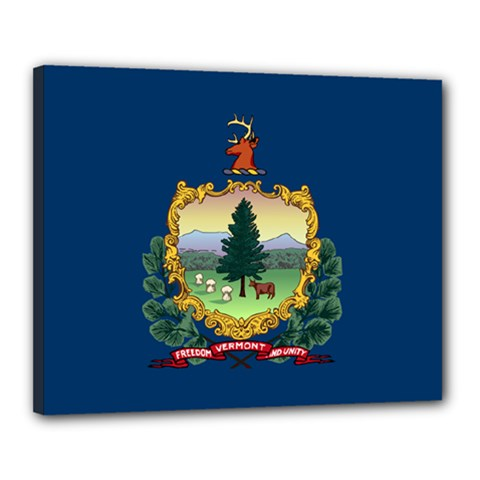 Flag Of Vermont Canvas 20  X 16  (stretched) by abbeyz71