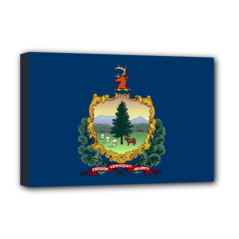 Flag Of Vermont Deluxe Canvas 18  X 12  (stretched) by abbeyz71