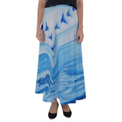 Space Bend Flared Maxi Skirt