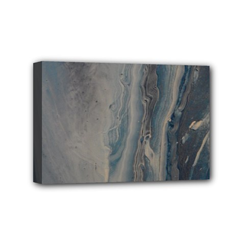 Blue Ice Mini Canvas 6  X 4  (stretched) by WILLBIRDWELL