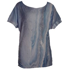 Blue Ice Women s Oversized Tee by WILLBIRDWELL
