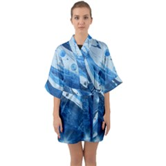 Star Maker Quarter Sleeve Kimono Robe by WILLBIRDWELL