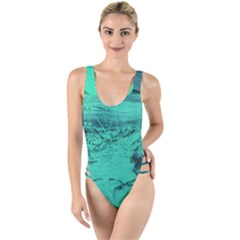 Neon Bubbles 2 High Leg Strappy Swimsuit