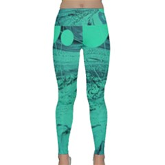 Neon Bubbles 2 Lightweight Velour Classic Yoga Leggings by WILLBIRDWELL
