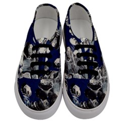 Black And Blue Men s Classic Low Top Sneakers
