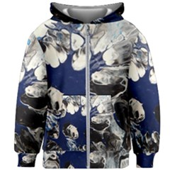 Black And Blue Kids Zipper Hoodie Without Drawstring
