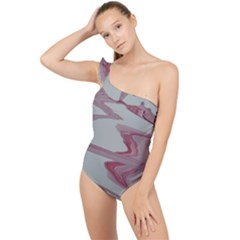 Melancholy Frilly One Shoulder Swimsuit