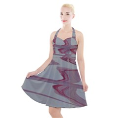 Melancholy Halter Party Swing Dress