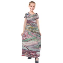 Frenzy Kids  Short Sleeve Maxi Dress by WILLBIRDWELL