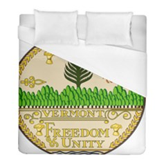 Great Seal Of Vermont Duvet Cover (full/ Double Size) by abbeyz71