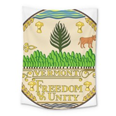 Great Seal Of Vermont Medium Tapestry by abbeyz71
