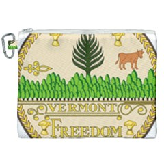Great Seal Of Vermont Canvas Cosmetic Bag (xxl) by abbeyz71