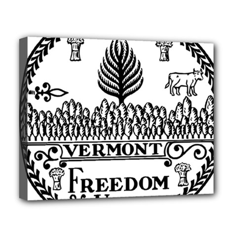 Great Seal Of Vermont Deluxe Canvas 20  X 16  (stretched) by abbeyz71