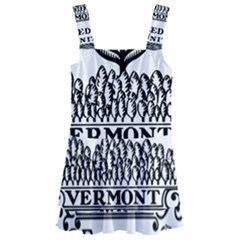 Great Seal Of Vermont Kids  Layered Skirt Swimsuit