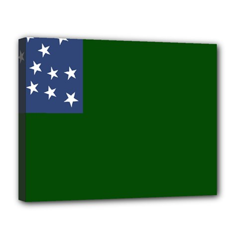 Flag Of Vermont Republic, 1777 1791 Canvas 14  X 11  (stretched)