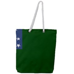 Flag Of Vermont Republic, 1777 1791 Full Print Rope Handle Tote (large)