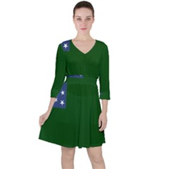 Flag Of Vermont Republic, 1777-1791 Ruffle Dress by abbeyz71