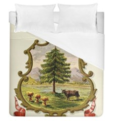 Coat Of Arms Of Vermont Duvet Cover (queen Size) by abbeyz71