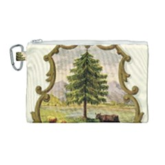 Coat Of Arms Of Vermont Canvas Cosmetic Bag (large) by abbeyz71