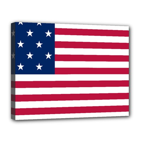 Flag Of Vermont, 1804 1837 Canvas 14  X 11  (stretched)