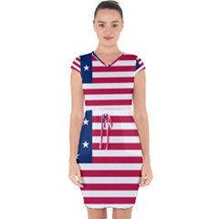 Flag Of Vermont, 1804-1837 Capsleeve Drawstring Dress  by abbeyz71